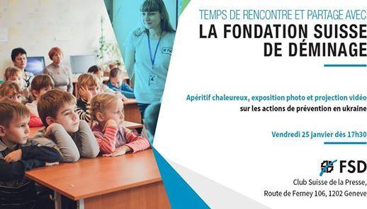 Temps de rencontre et partage avec la fondation Suisse de déminage