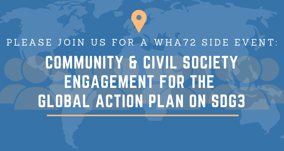 Community and Civil Society Engagement for the Global Action Plan on SDG3