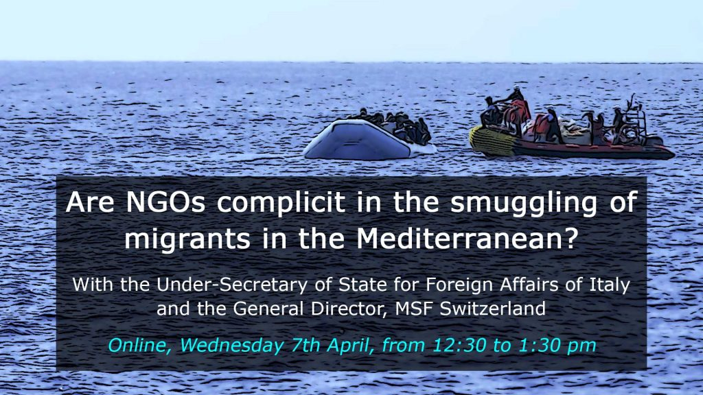 "Notes & Quotes from the debate ""Are NGOs complicit in the smuggling of migrants in the Mediterranean?"""