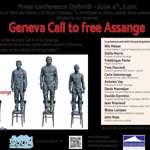 Geneva calls for the release of Julian Assange