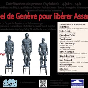 Genève lance un Appel pour libérer Julian Assange